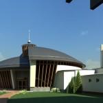 5-   3D- Pohľad z átria kláštora
