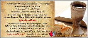 Oznamenie - knazska vysviacka - Andrej Kovalak OSA