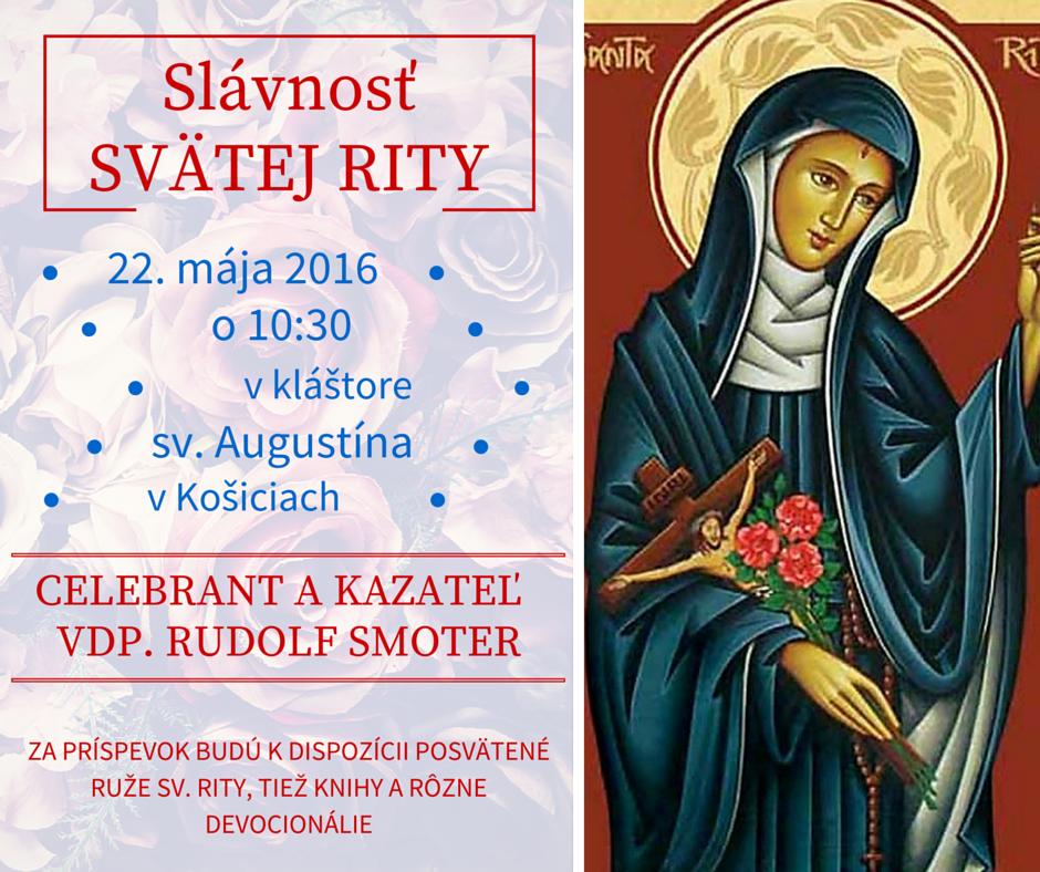 Slávnosť sv. Rity 22. mája 2016
